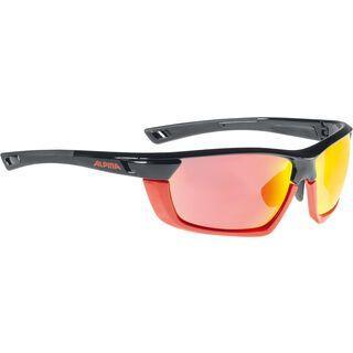 Alpina Tri-Scray MF inkl. Wechselgläser, black red/Lens: red mirror - Sportbrille