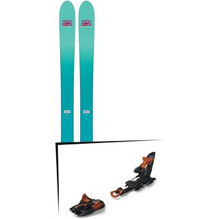 Set: DPS Skis Nina F99 Foundation 2018 + Marker Kingpin 13 black/copper