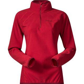Bergans Ombo Lady Half Zip, red/burgundy - Fleecepullover