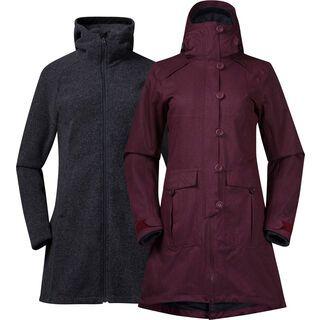 Bergans Bjerke 3in1 Lady Coat, zinfandel red - Mantel