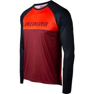 Specialized Demo Pro Longsleeve Jersey, rocket red/crimson block - Radtrikot