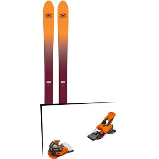 Set: DPS Skis Wailer F99 Foundation 2018 + Tyrolia Attack 16 solid black flash orange