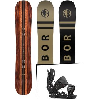 Set: Arbor Coda Camber Premium 2017 + Flow NX2 2016, black - Snowboardset