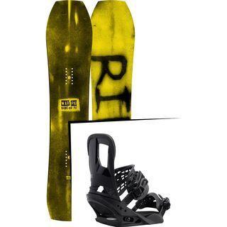 Set: Ride Warpig Small 2017 + Burton Cartel 2017, black - Snowboardset