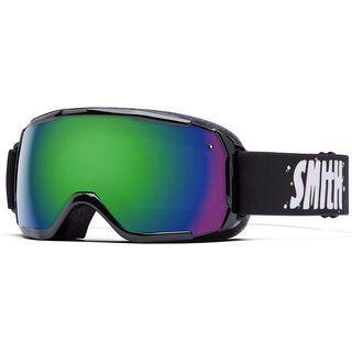 Smith Grom, black/green sol-x mirror - Skibrille