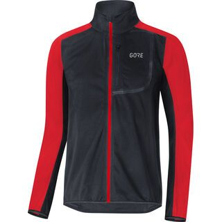 Gore Wear C3 Gore Windstopper Jacke, black/red - Radjacke