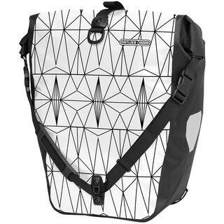 Ortlieb Back-Roller Design Grid, weiß-schwarz - Fahrradtasche
