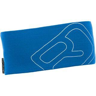 Ortovox Merino Cool Logo Headband, blue ocean - Stirnband