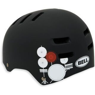 Bell Faction, matte black/white paul frank drums - Fahrradhelm