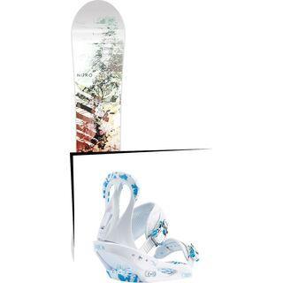 Set: Nitro Lectra 2017 + Burton Citizen 2017, white/blue - Snowboardset