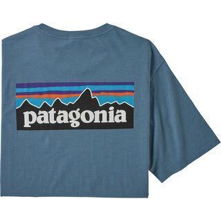 Patagonia Men's P-6 Logo Organic T-Shirt, pigeon blue
