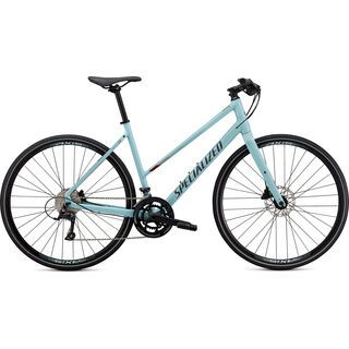Specialized Sirrus 3.0 Step-Through gloss summer blue/metallic crimson/black reflective 2021