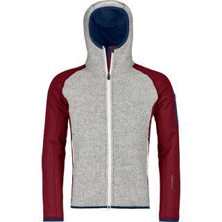 Ortovox Merino Fleece Plus Classic Knit Hoody M, dark blood - Fleecejacke