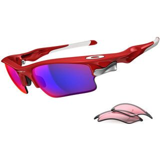 Oakley Fast Jacket XL, Infrared/Positive Red Iridium & VR28 - Sportbrille