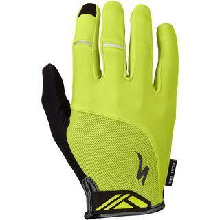 Specialized Body Geometry Dual-Gel Long Finger, hyper green - Fahrradhandschuhe