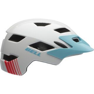 Bell Sidetrack Youth, white glacier blue - Fahrradhelm