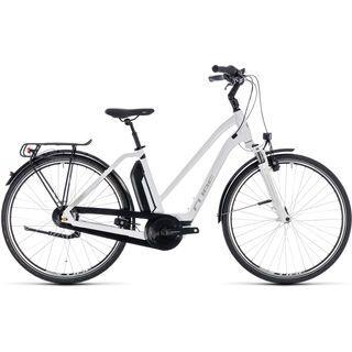 Cube Town Hybrid ONE 400 Trapeze 2018, white´n´silver - E-Bike