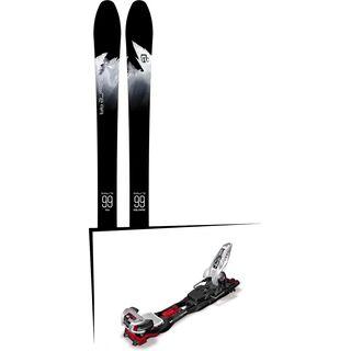 Set: Icelantic Sabre 99 2018 + Marker Baron EPF 13 black/white/red