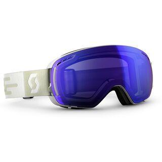 Scott LCG Compact + Spare Lens, white/ls blue chrome - Skibrille