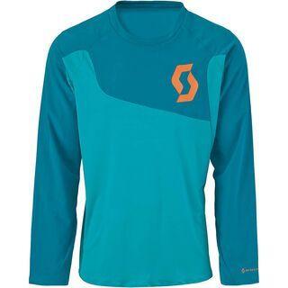 Scott AMT l/sl Shirt, medium blue/orange - Radtrikot