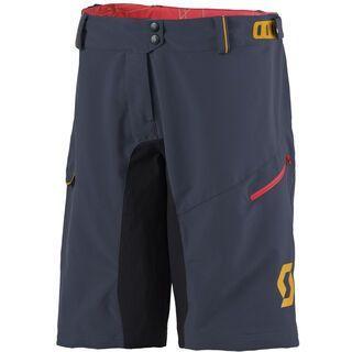 Scott Womens Progressive ls/fit w/Pad Shorts, blue nights/orange - Radhose