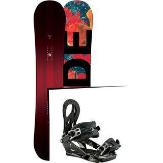 Set: Ride Saturday 2017 + Nitro Lynx 2017, black - Snowboardset