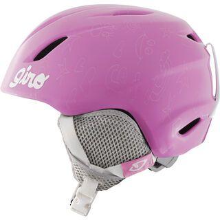 Giro Launch Combo inkl. Goggle, pink notebook - Skihelm