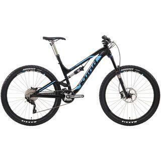 Kona Process 134 Deluxe 2014, matt black/cyan - Mountainbike