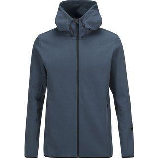 Peak Performance Tech Zip Hood, blue steel - Hoody