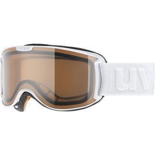 uvex skyper P, white/Lens: polavision brown - Skibrille