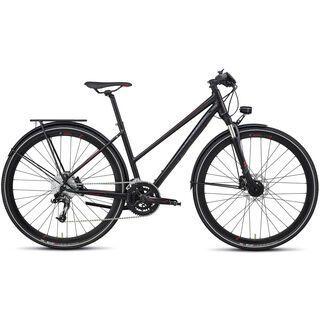 Specialized Crossover Expert Disc Step Through 2013, Black/Red - Trekkingrad