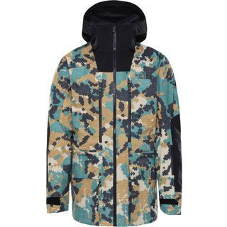 The North Face Men's A-Cad Futurelight Jacket, timber tan digi topo xl print/tnf black - Skijacke