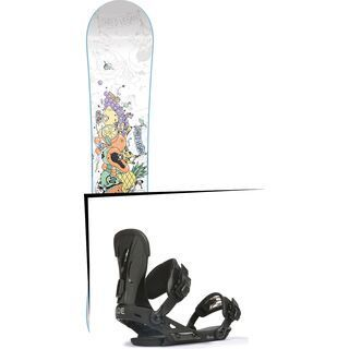 Set: Nitro Pro One Off Ana Rumiha 2017 + Ride VXN, black - Snowboardset