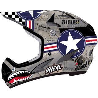 ONeal Backflip Fidlock DH Helmet Evo Wingman, metal/white - Fahrradhelm