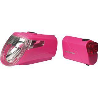 Trelock LS 360 I-Go Eco + LS 720 - Beleuchtungsset, pink
