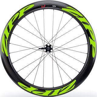 Zipp 404 Firecrest Tubular Disc-brake, schwarz/grün - Hinterrad