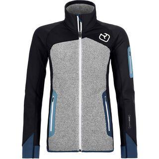 Ortovox Merino Fleece Plus Jacket W, black raven - Fleecejacke