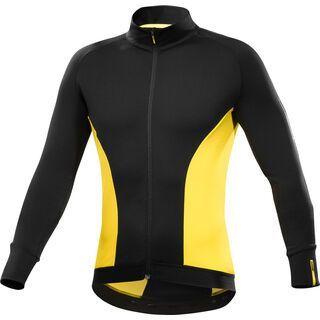Mavic Cosmic Elite Thermo LS Jersey, black / yellow - Radtrikot