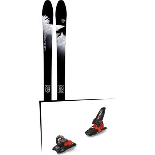 Set: Icelantic Sabre 89 2018 + Marker Jester 18 Pro ID black/flo-red