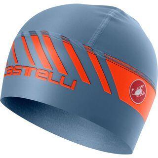 Castelli Arrivo 3 Thermo Skully, steel blue/orange - Radmütze