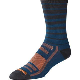 Dakine Singletrack Sock, slate blue stripe - Radsocken