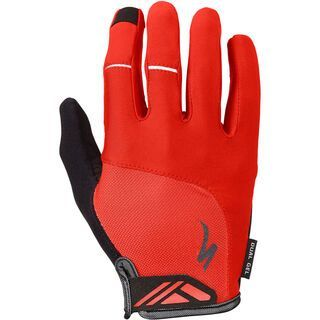 Specialized Body Geometry Dual-Gel Long Finger, red - Fahrradhandschuhe