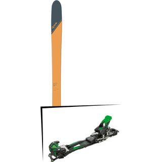 Set: DPS Skis Wailer 99 Tour1 2018 + Tyrolia Adrenalin 16 solid black flash green