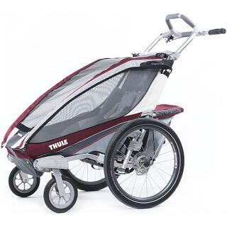 Thule Chariot CX 1 inkl. Buggy-Set, burgundy - Fahrradanhänger