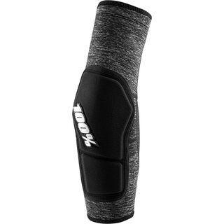 100% Ridecamp Elbow Pad, grey heather / black - Ellbogenschützer