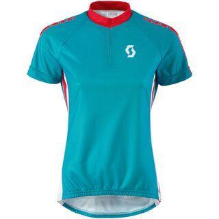 Scott Womens Endurance 30 s/sl Shirt, ocean blue/hibiscus red - Radtrikot