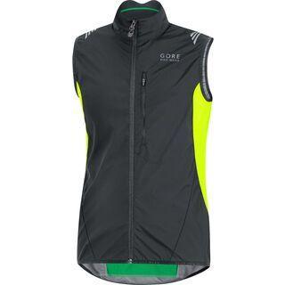 Gore Bike Wear Element Windstopper Active Shell Weste, black/neon yellow - Radweste