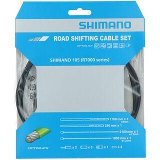 Shimano 105 Edelstahl, Optislick beschichtet, schwarz - Schaltzugset