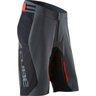 Cube Blackline Shorts, black´n´grey´n´red - Radhose