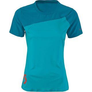 Scott Womens AMT s/sl Shirt, ocean blue/medium blue - Radtrikot